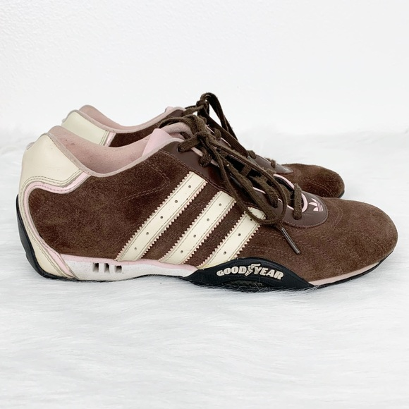 Adidas Brown Goodyear Racing Street Women Shoe 8.5